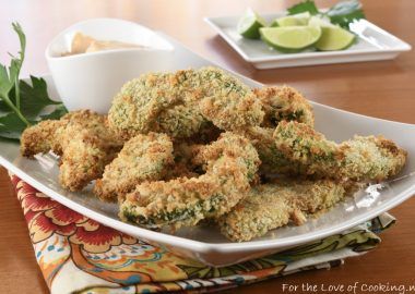 Baked Avocado Fries with Chipotle Garlic Aioli