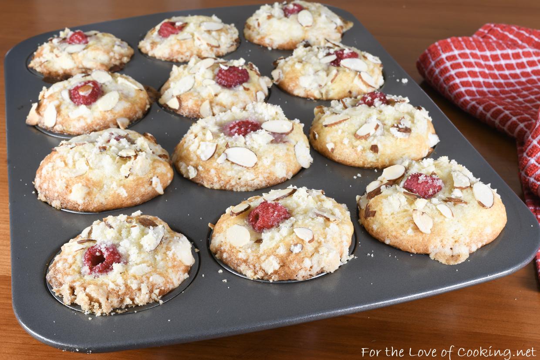 Lemon Raspberry Almond Muffins