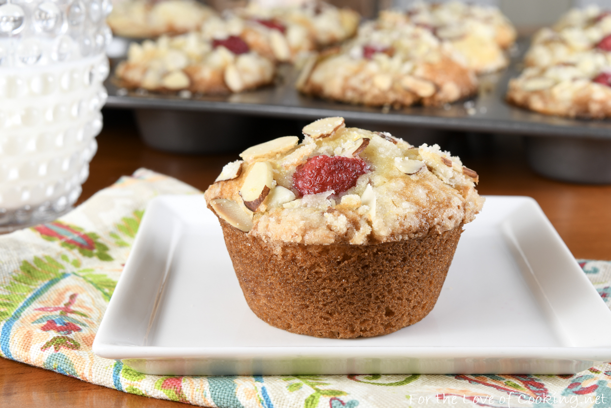 Lemon Raspberry Almond Muffins