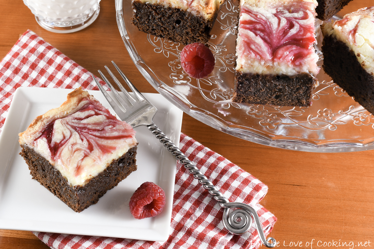 White Chocolate Raspberry Cheesecake Brownies