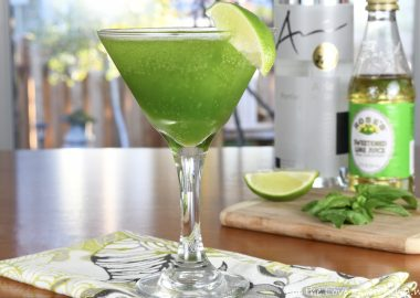Blended Basil Martini