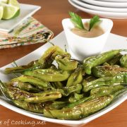 Blistered Shishito Peppers with Chipotle-Garlic Aioli