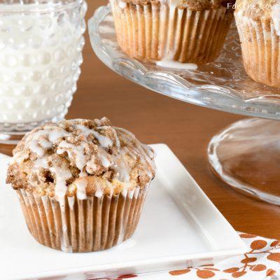 Glazed Apple Cinnamon Muffins