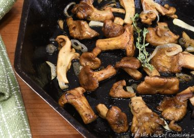 Roasted Chanterelle Mushrooms