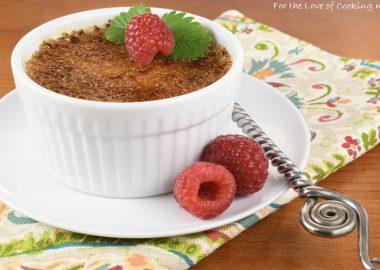 Raspberry Crème Brûlée