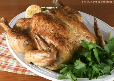 Slow Roasted Garlic Chicken
