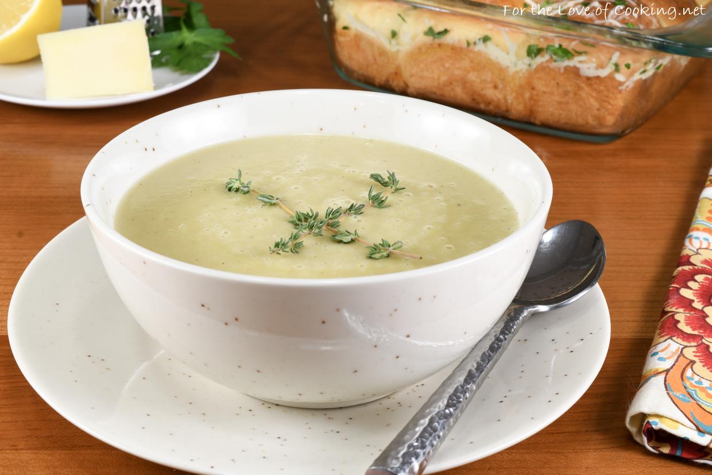Creamy Artichoke Parmesan Soup