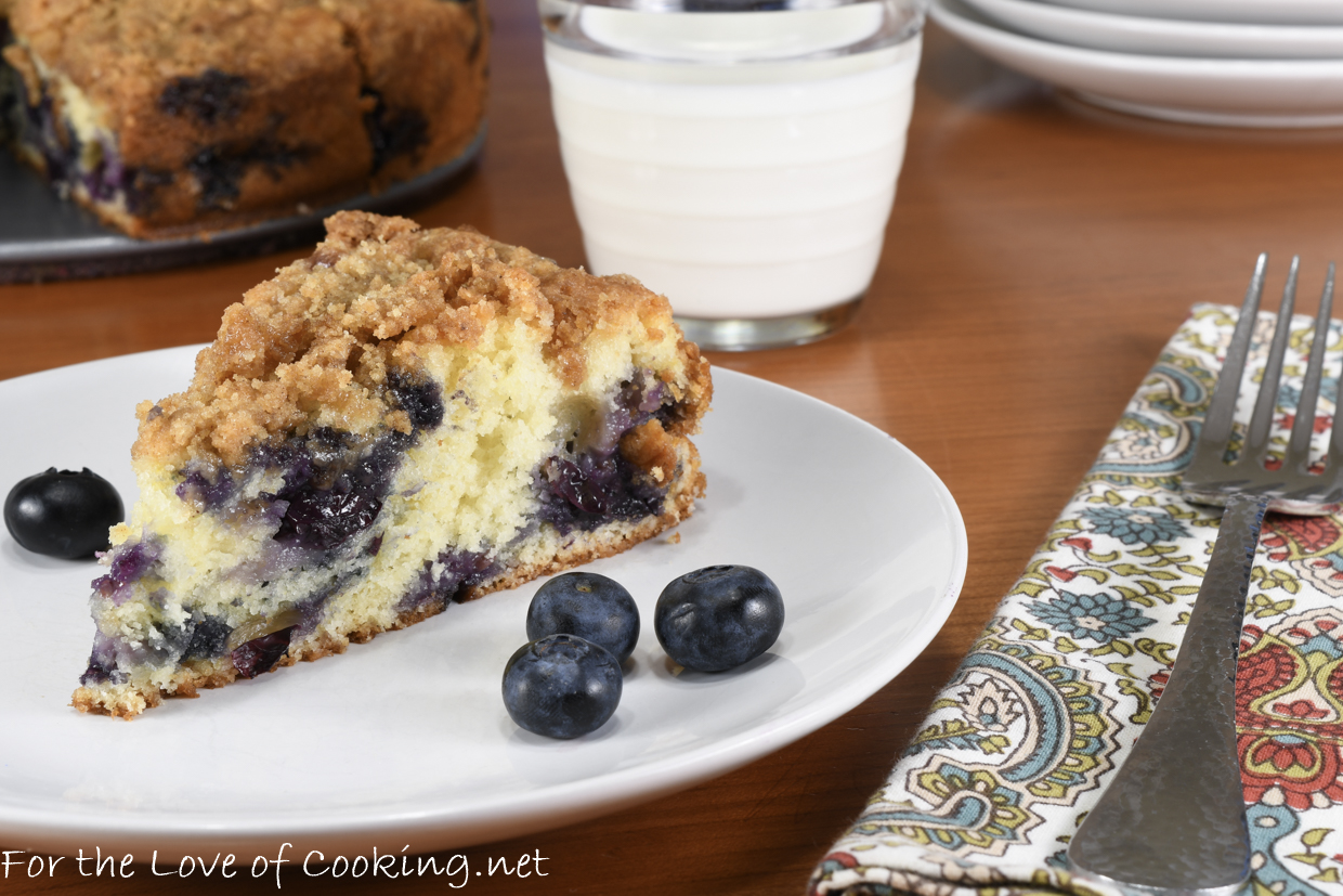 Blueberry Buckle | For the Love of Cooking