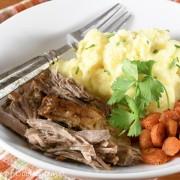 Braised Pork Shoulder with Fennel, Garlic, and Herbs