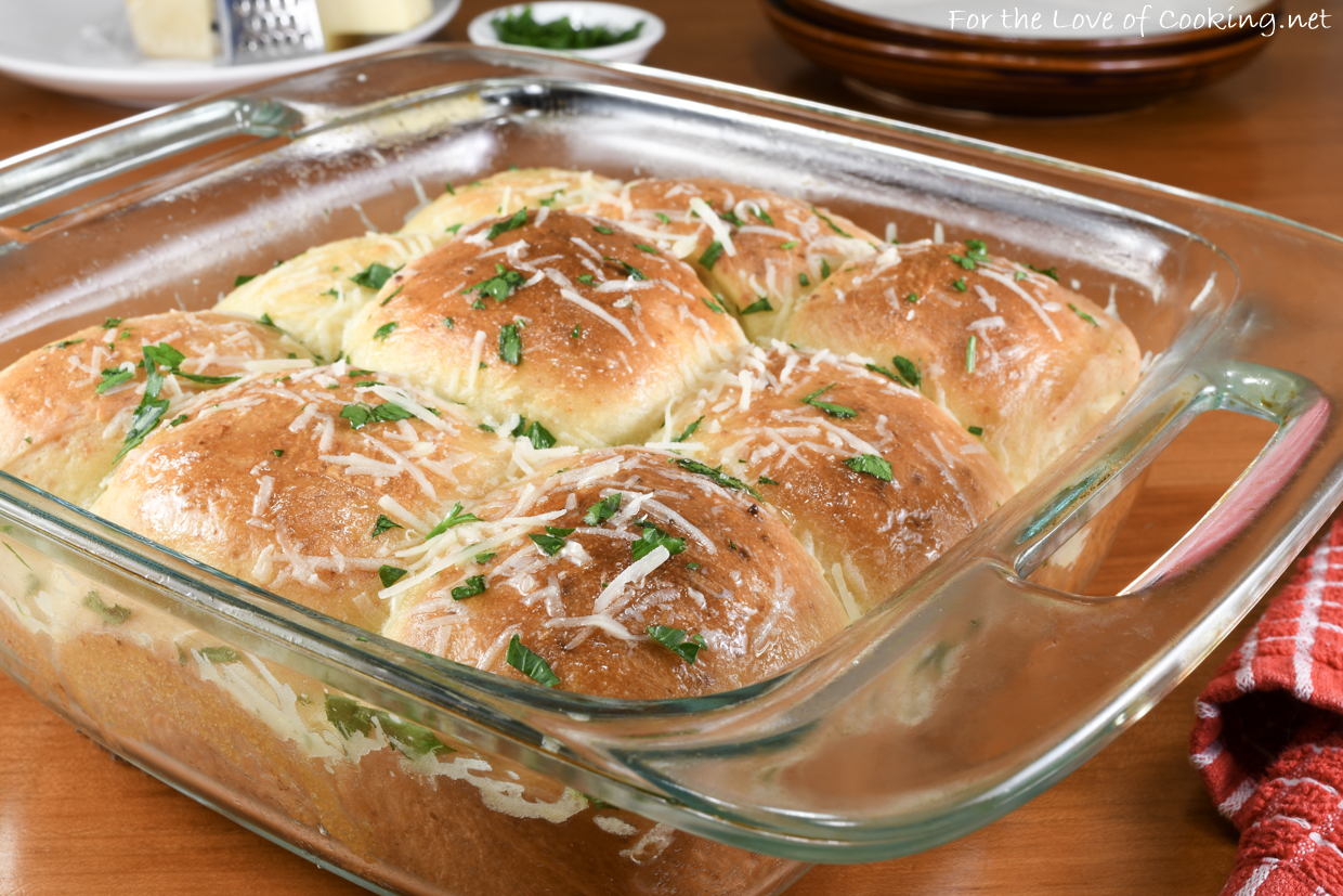 Soft Parmesan Dinner Rolls