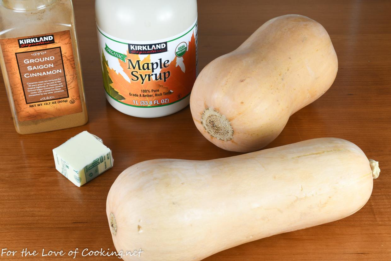 Maple-Cinnamon Butternut Squash
