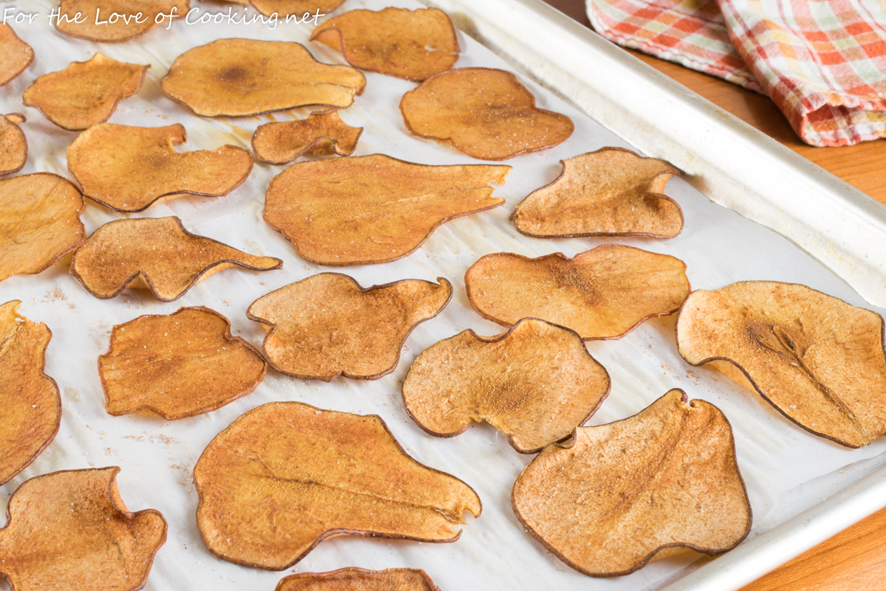 Baked Cinnamon-Sugar Pear Chips