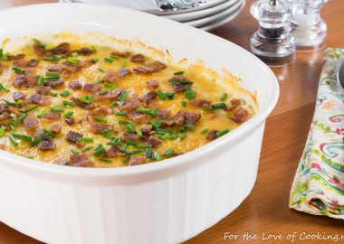 Scalloped Potatoes with Bacon and Chives