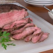 Slow-Roasted Beef with Creamy Horseradish Sauce