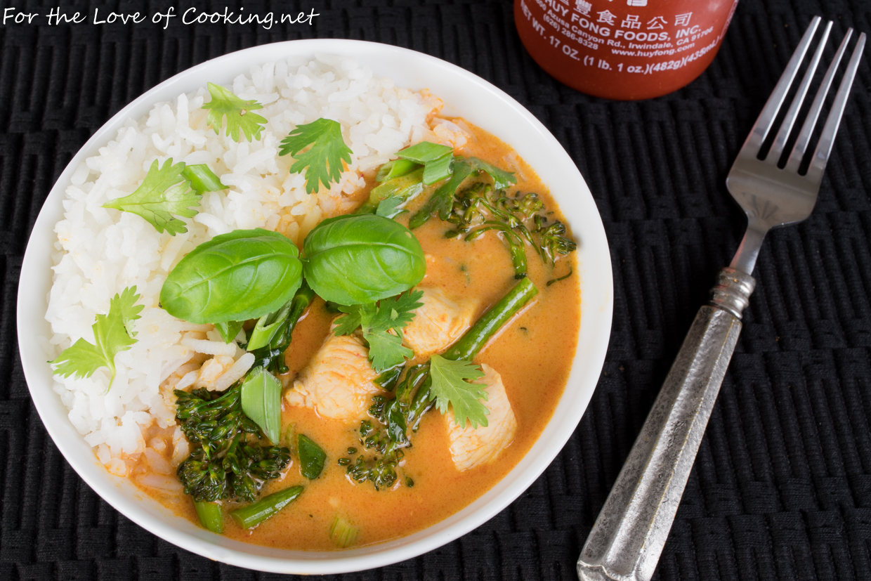 Thai red curry with chicken and broccolini recipes for Best thai red curry