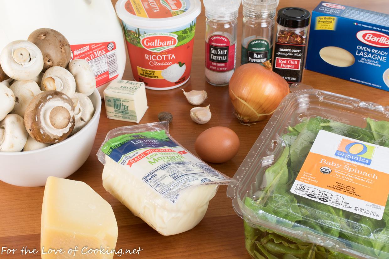 Creamy Mushroom and Spinach Lasagna