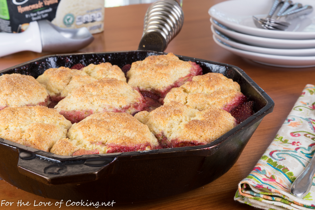 Skillet Strawberry Cobbler