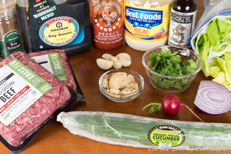 Korean Ground Beef Lettuce Wraps