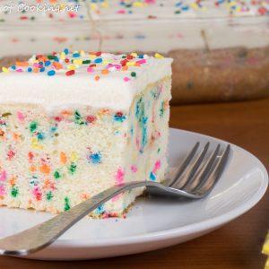 Funfetti Cake with Vanilla Buttercream Frosting
