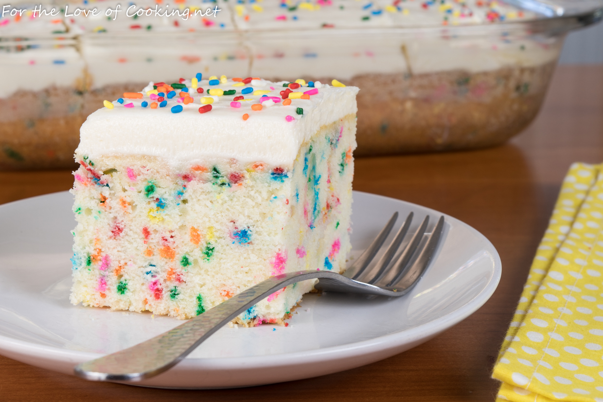 Funfetti Cake with Vanilla Buttercream Frosting