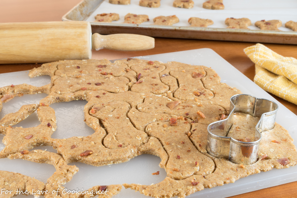 Peanut Butter & Bacon Dog Treats