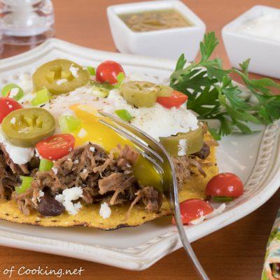 Pork Carnitas Breakfast Tostada