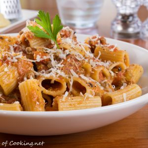 Rigatoni with Slow-Simmered Bolognese Sauce