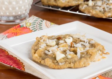 Toasted Coconut, White Chocolate, and Toffee Cookies
