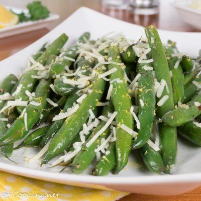 Lemon Butter Green Beans with Parmesan