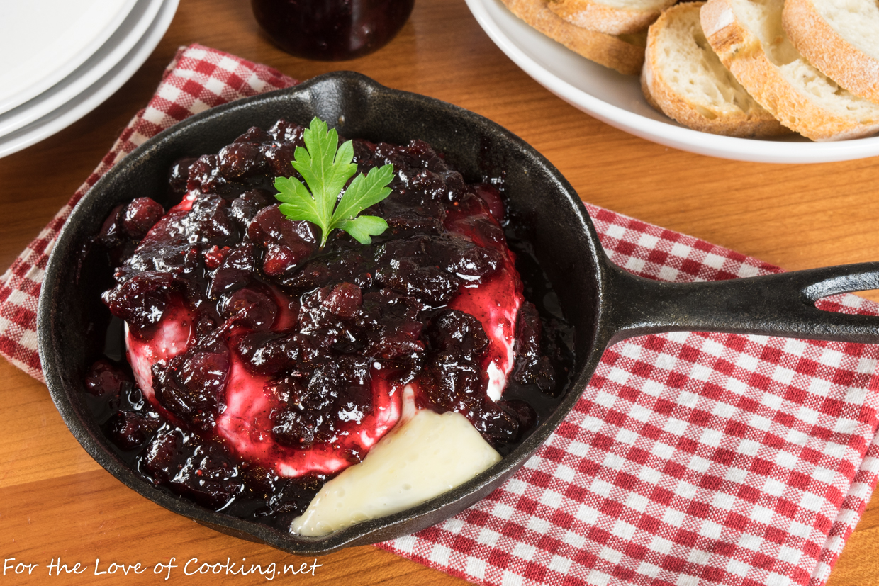 Baked Brie with Cranberry Balsamic Compote