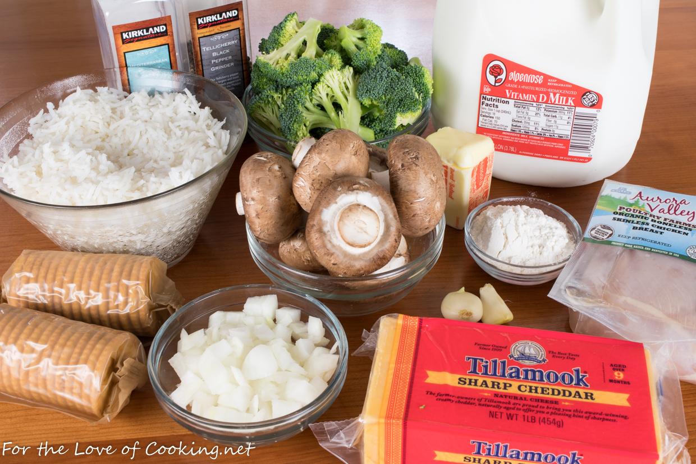 Cheesy Chicken, Broccoli, and Rice Casserole