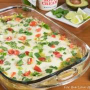 Carnitas Enchiladas Verde with Black Beans and Corn