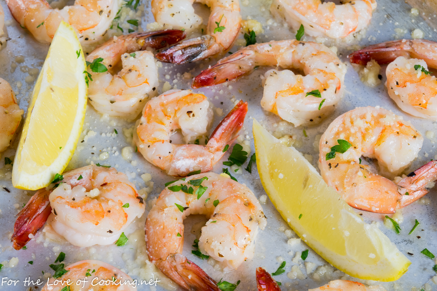 Garlic Butter Roasted Shrimp with Parmesan