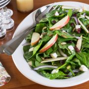 Spinach Apple Cranberry Salad