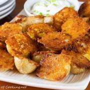 Crispy Parmesan Garlic Roasted Baby Potatoes