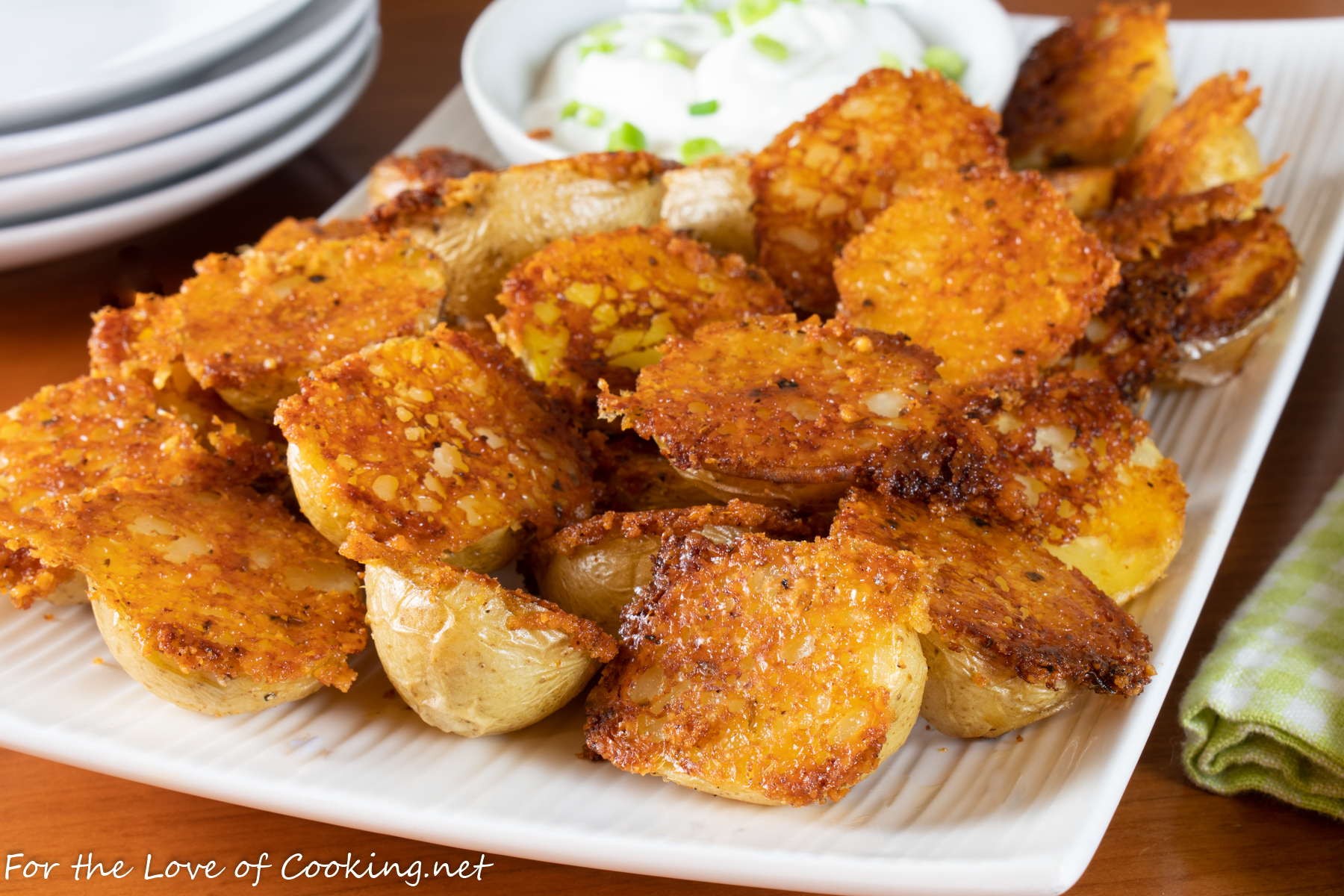 Crispy Parmesan Garlic Roasted Baby Potatoes