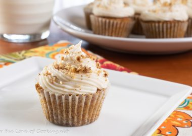 Mini Carrot Cake Cupcakes with Brown Butter Frosting