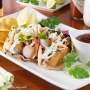 Baja Fish Tacos with Citrus Slaw