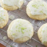 Glazed Lime and Coconut Cookies