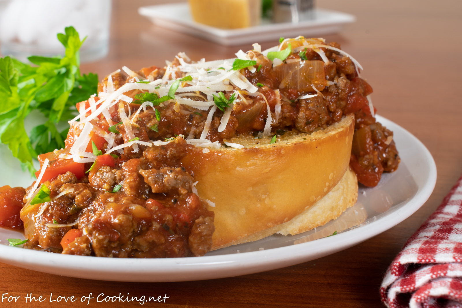 Open Faced Italian Sloppy Joes
