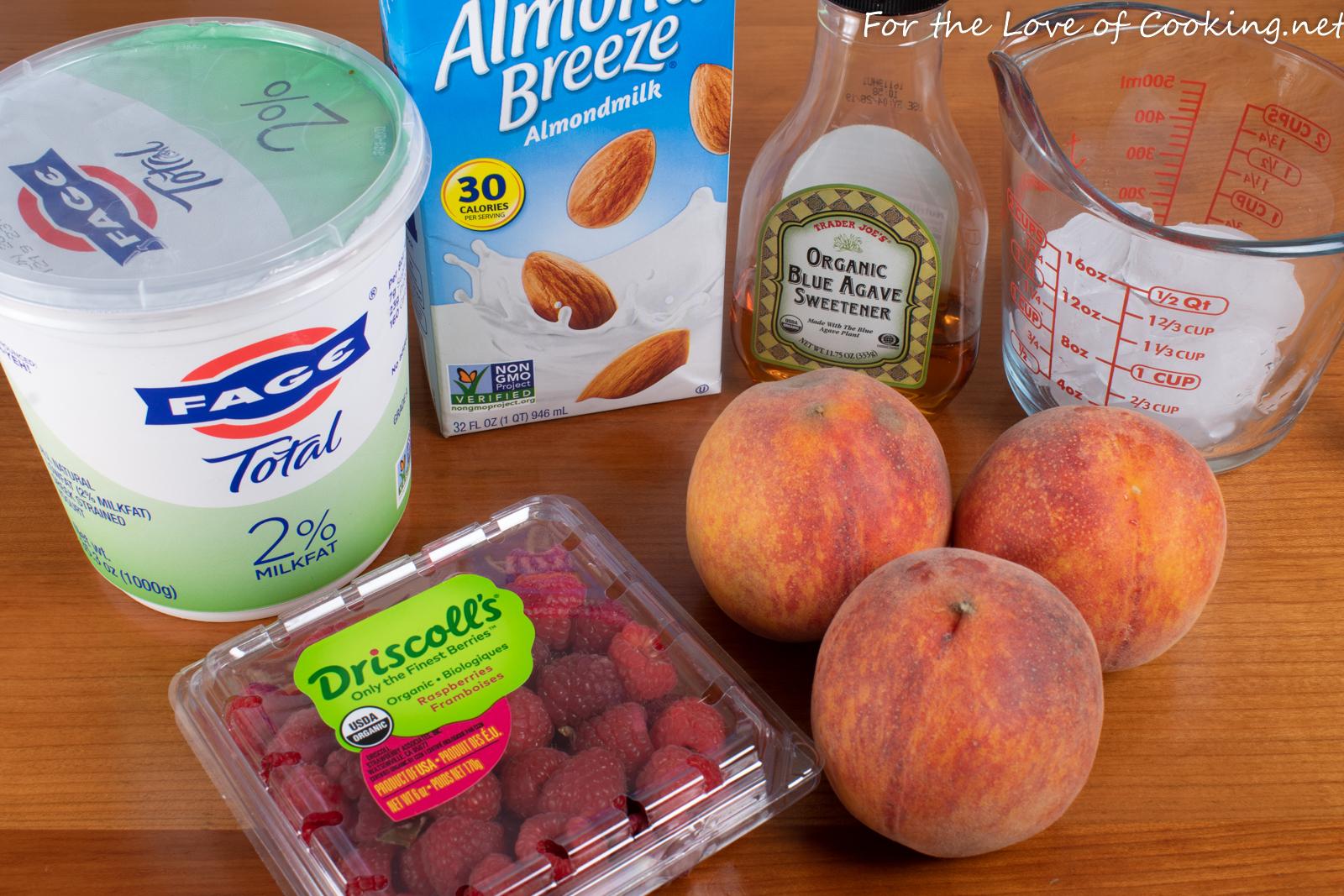 Raspberry Peach Smoothie