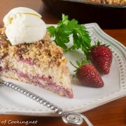 Strawberry Buckle with Pecan Streusel