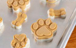 Frozen Peanut Butter & Banana Dog Treats