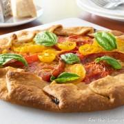 Heirloom Tomato Galette with Mozzarella and Fresh Basil