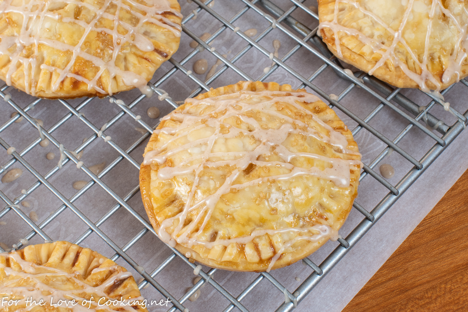 Peach Hand Pies with Cinnamon Glaze